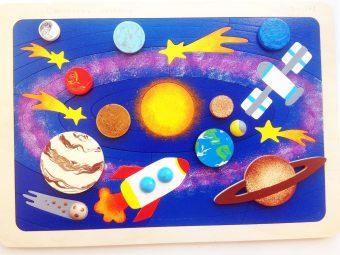 Мозаика-вкладыш Солнечная система, 31 деталь