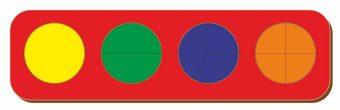 Рамка вкладыш Дроби, Никитин, 4 круга, ур.1, в асс-те