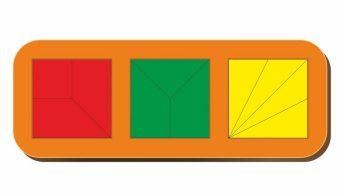 Рамка вкладыш Сложи квадрат, Никитин, 3 квадрата, ур.2, в асс-те