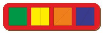 Рамка вкладыш Сложи квадрат, Никитин, 4 квадрата, ур.1, в асс-те