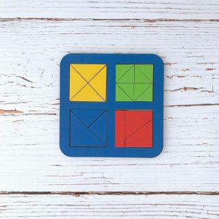 Рамка вкладыш Сложи квадрат, Никитин, 4 квадрата, ур.2, в асс-те