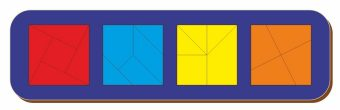 Рамка вкладыш Сложи квадрат, Никитин, 4 квадрата, ур.3, в асс-те