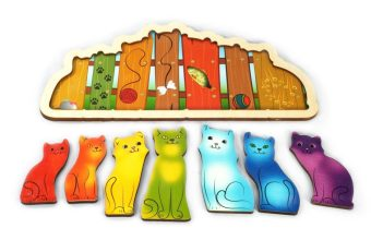 Рамка-вкладыш Разноцветные котята