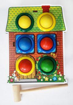 Стучалка цветная Дом