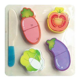 Набор  продуктов с ножом Овощи