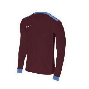 Детская игровая футболка с длинным рукавом Nike Park Derby II бордовая с голубым