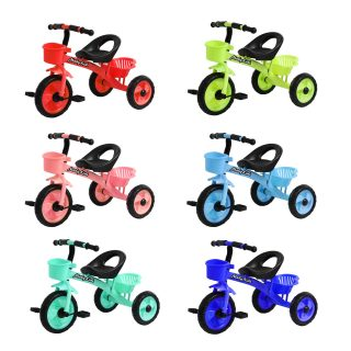 Велосипед 3кол. Пони, 10/8' кол. 6 цветов, 2 корзины