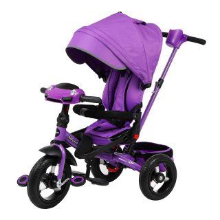 Велосипед 3кол. New Leader 360° 12x10 AIR Car, фиолетовый