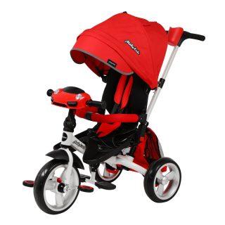 Велосипед 3кол. New Leader 360° 12x10 EVA Car, красный