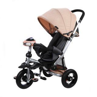 Велосипед-коляска 3кол. Stroller trike 10x10 AIR Car, кофе