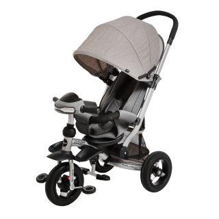 Велосипед-коляска 3кол. Stroller trike 10x10 AIR Car, серый
