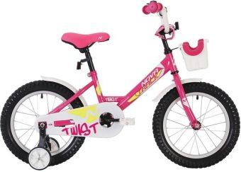 "Велосипед NOVATRACK 12"" TWIST, розовый, тормоз нож., корот.крылья, передняя корзина"