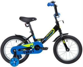 """Велосипед NOVATRACK 14"""" TWIST, чёрный, тормоз нож., корот.крылья"""