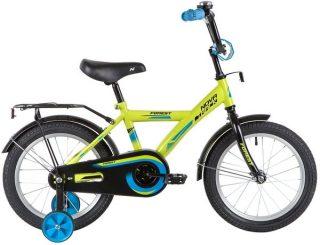 "Велосипед NOVATRACK 16"" FOREST, зелёный, тормоз нож., крылья и багажник чёрн."