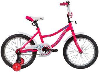 """Велосипед NOVATRACK 18"""" NEPTUNE розовый, защита А-тип, тормоз нож, короткие крылья"""