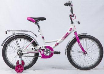 """Велосипед NOVATRACK 18"""" URBAN, белый, защита А-тип, тормоз нож., крылья и багажник хром."""