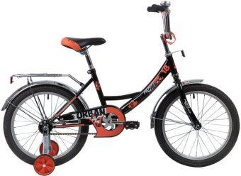 """Велосипед NOVATRACK 18"""" URBAN, чёрный, защита А-тип, тормоз нож., крылья и багажник хром."""