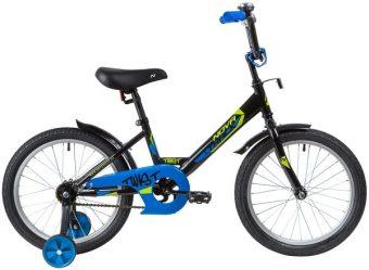 """Велосипед NOVATRACK 18"""", TWIST, чёрный, тормоз нож., корот.крылья"""