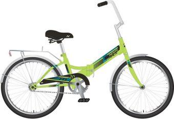 """Велосипед NOVATRACK 20"""" TG20 складной, зеленый, тормоз нож, двойной обод, багажник"""