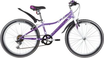 "Велосипед NOVATRACK 24"" ALICE, сталь.рама 12"" лиловый, 6-скор, TY21/TS38/SG-6SI, V-brake"