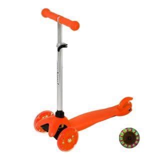 Самокат Moby kids Basic 2.0, 120 мм PU, свет, рег.рул.стойка, оранжевый