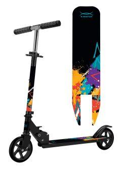 Самокат X-Match Street art, 145 мм PU, черный