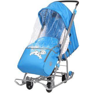 Коляска-санки комбинированная Baby 1 Disney 101 Далматинец (голубой), пакет