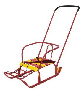 Санки Тимка 3+ с колесом красный