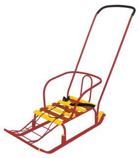 Санки Тимка 5 Комфорт с большим колесом красный