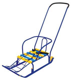 Санки Тимка 5 Комфорт с большим колесом синий