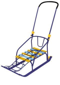 Санки Тимка 6 Комфорт с большим колесом синий