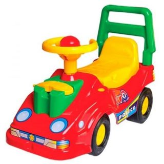 Машина-каталка с телефоном красная