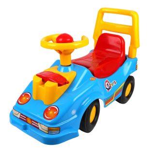 Машина-каталка с телефоном синяя