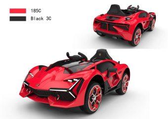 Электромобиль красный р/у 12V4.5AH, 25W 2.4G R/C, 2 подвески, гидравл.открытие дверей, ремень безопасности, LED-подсветка