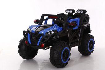 Электромобиль синий р/у 12V7AH*1 380*4 2.4G R/C, двери открываются, эффект колебания, кнопка старта