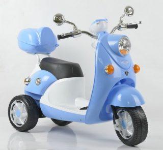 Мопед трехколесный голубой 6V4.5AH, 20W*2