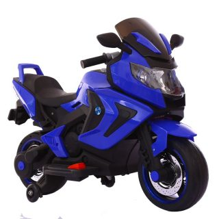 Мотоцикл синий 6V4.5AH*2, 25W*2, кнопка старта, LED-подсветка