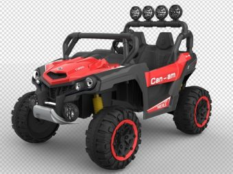 Квадроцикл красный на р/у 2,4ГГц, 12В10A*1, 540*4 мотора, плеер, регулировка скорости, подвеска