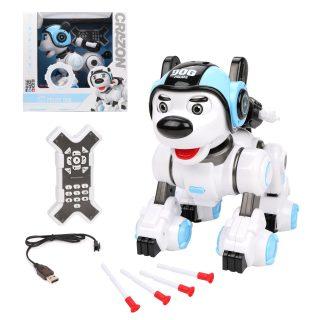 Робот Пёс-полицейский, эл., свет, звук, USB шнур, эл.пит.ААA*2шт.не вх.в комплект