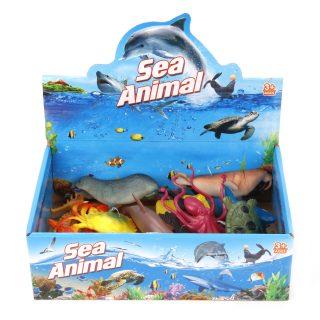 Морские животные в ас-те, 12-16см, дисплей.