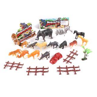 Набор диких животных 14 шт., аксессуары, пакет