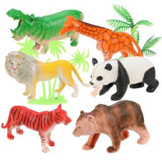 Набор диких животных, 9 см, 6 шт., аксессуары, пакет