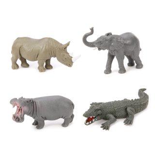 Набор диких животых Jungle animal, 13см, 4шт.