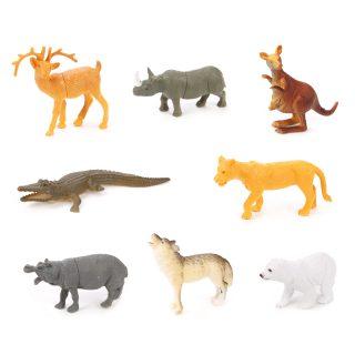 Набор диких животых Jungle animal, 8,5см, 8шт.