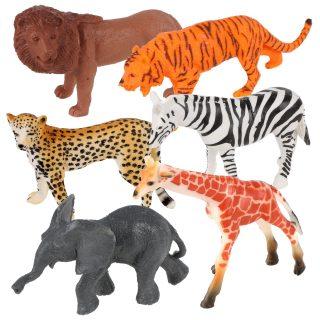 Набор диких животых Jungle animal, 8см, 6шт.