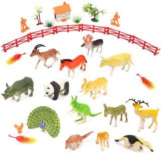 Набор животных, фигурки 18 шт., аксессуары, игровое поле, пакет