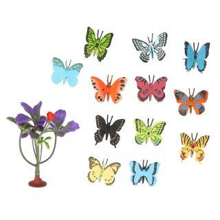 Набор фигурок Бабочки, 12 шт., аксессуары