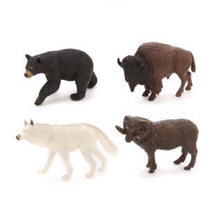 Набор фигурок Дикие животные, 4 шт., пакет