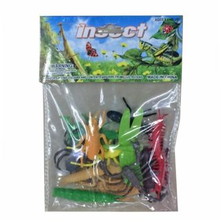 Набор фигурок Мир насекомых, 12 шт., пакет