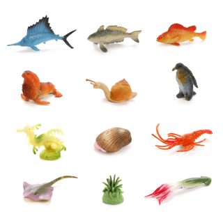 Набор фигурок Морские животные, 12 шт.